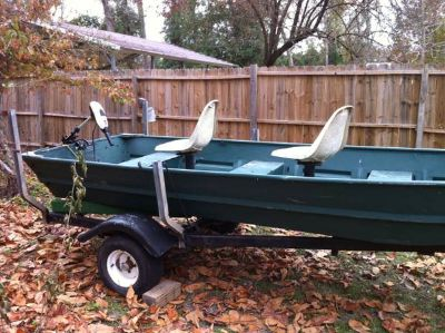 14 foot flatbottom boat and trailer