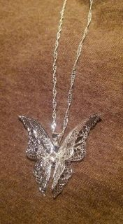 New Silver Butterfly Necklace