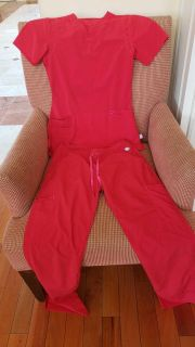 Red scrubs size XS-S