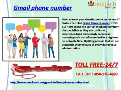 Do You Know About Gmail Phone Number Via 1-850-316-4893?
