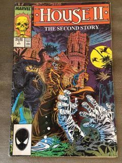 House 2 the second story 1987 marvel comics in plastic
