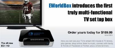 EC1 HD Set Top Box / TV Box By EworldBox