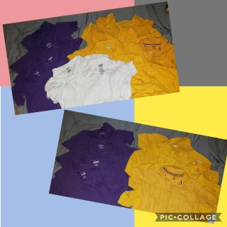 Uniform shirts - Purple, Yellow & White