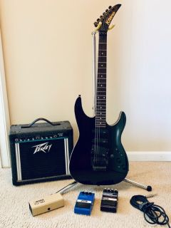 Kramer Guitar with Peavey amp and DoD pedals