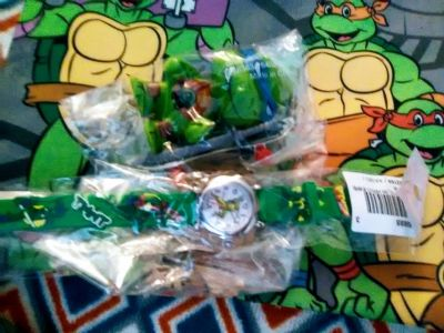TMNT watch and toy