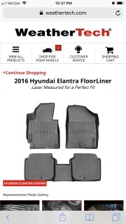 WeatherTech floor mats and trunk liner