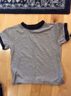 Grey and navy tshirt size 5