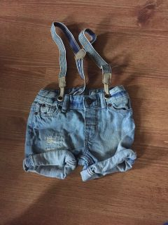 H&M jean shorts with detachable suspenders