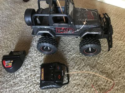Remote controlled Jeep.