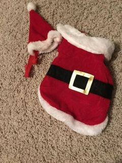 Small doggie Santa outfit