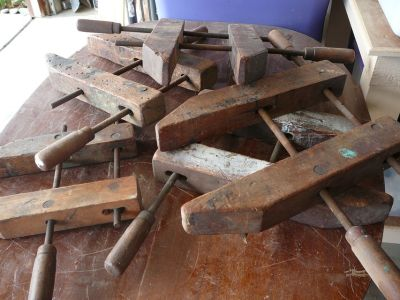 Antique wood clamps - lot of 5
