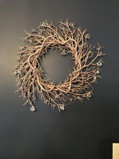 Gorgeous Year-round Rose Gold Wreath (from Home Goods)