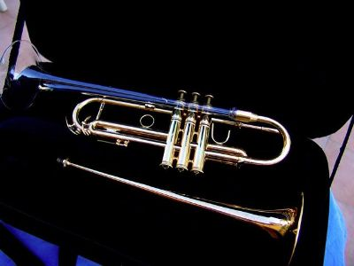 RARE Parker Winds Cashel Crystal Bell Gold Plated Bb Trumpet  $1700