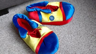 Ringling Circus clown-shoe slippers-adult