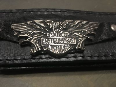 Very nice 44 inch HARLEY DAVIDSON Premium Leather Belt