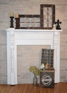 Beautiful solid wood mantle!
