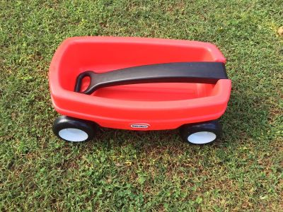 Small mini Little Tikes red wagon perfect for baby dolls