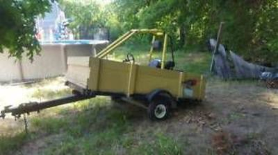 """Purchase """"8 Foot Dump Body Trailer"""" (auto wheels & tires) motorcycle in Tewksbury, Massachusetts, United States, for US $325.00"""