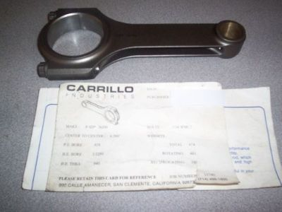 Buy CARRILLO 6.200 LARGE JOURNAL SMALL BLOCK CHEVY CONNECTING ROD motorcycle in Coldwater, Michigan, United States, for US $200.00