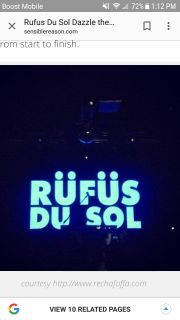 Two tickets to the Rufus DU sol concert in orlando june 15th