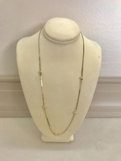 10K (solid) yellow gold women s necklace