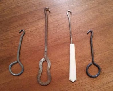 Boot Lace Hooks -Antique - 4 different kinds