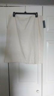 New white glitter skirt