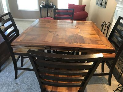 Counter height table and 6 chairs