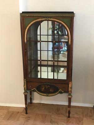 Vintage Curio Glass Cabinet