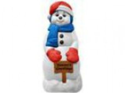 Snowman Christmas Decoration with Lights Up Blow Mold for Outdoo
