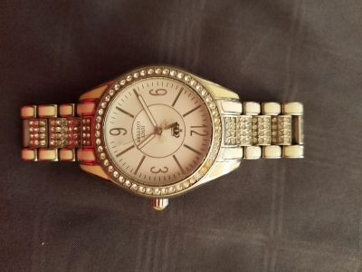 Juicy couture watch white with swarovski crystals