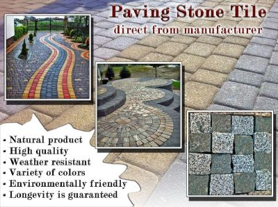 Paving Stone Tile. Direct manufacturer.