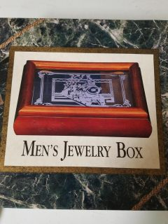 Jewelry box with train etching