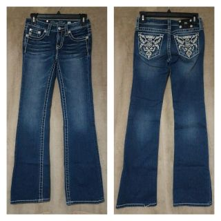 Girls size 14 Boot Cut Miss Me jeans