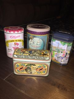 9 Collectable Chocolate Tins