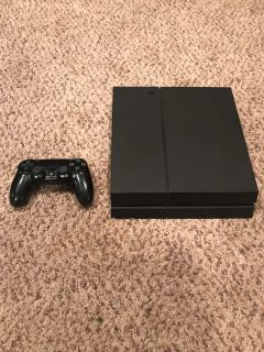 PS4 500 GB with controller, power cord, and HDMI