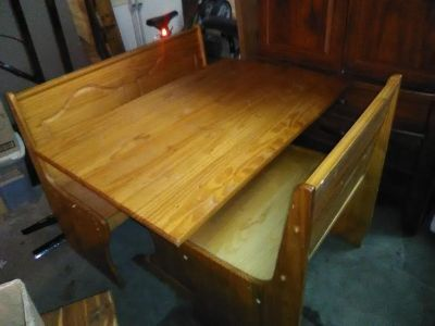 Wooden Dinette with bench seating- Wisconsin Rapids
