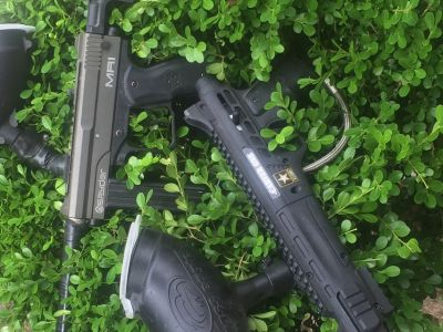 I have two paint ball guns one is spyder mr1 and other is US army caver one the mr1 peice were ...