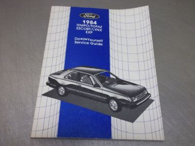 Find 1984 Ford Tempo Escort Lynx EXP DIY Factory Service Repair Manual motorcycle in Franklin, Indiana, United States, for US $3.02