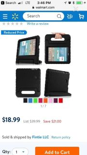 Two 7 inch tablet cases like new condition didn t even use for a week both for 15 or 10 each