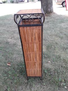Wicker plant stand 32 in tall
