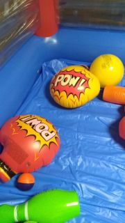 Kids blow up boxing gloves. Never used