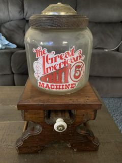 Vintage Great American nut machine with box.