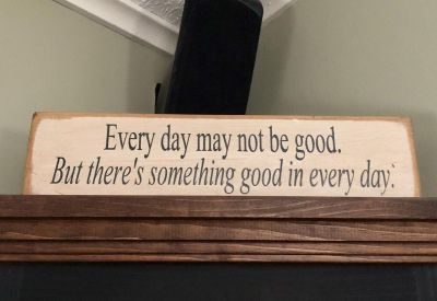 Wooden quote sign