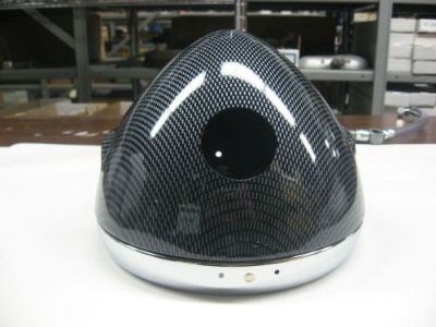 "Sell CAFE RACER HEADLIGHT SHELL 7"" BUCKET W/RIM CARBON FIBRE motorcycle in New Bedford, Massachusetts, United States, for US $60.00"