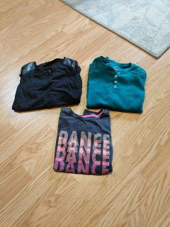 3 long sleeve shirts all size 7-8