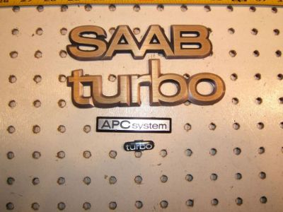 Sell Saab 1984 900 TURBO APC rear metal 3 emblems and steering Plastic 1 emblem motorcycle in Rocklin, California, United States, for US $75.00