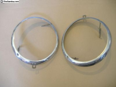 VW Bug head light rings 49 - 66 yr