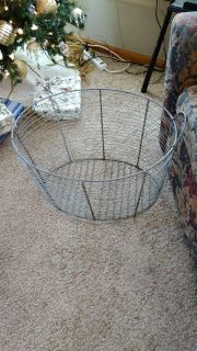 ANTIQUE OLD -- LARGE Metal (Thick Wire) Basket