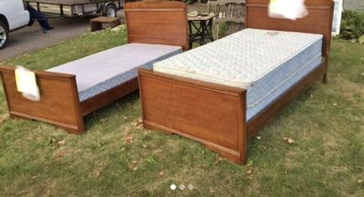 Two Oak Twin Beds -Great used condition!